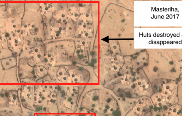 Remote sensing analysis shows the destroyed villages of Darfur